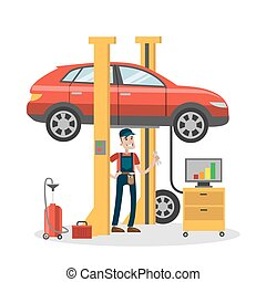 megjavítás, autó., szerelő