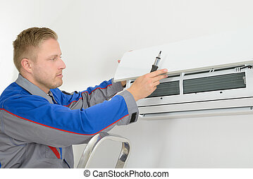 megjavítás, conditioner, repairer, levegő