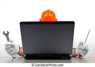 megjavítás, laptop