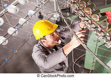megjavítás, technikus, textil, társaság