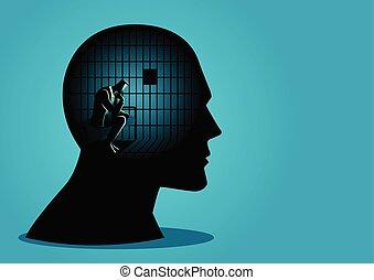 megkötés, képben látható, a, freedoms, közül, gondolkodás