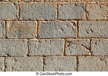 megkövez, evez, fal, motívum, struktúra, faragott, bástya, kőművesség