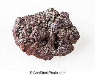 megkövez, iron), goethite, durva, (brown, fehér