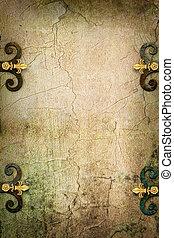 megkövez, művészet, középkori, képzelet, gót, háttér