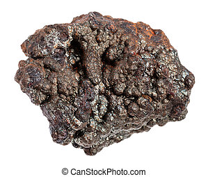 megkövez, ore), elszigetelt, vas, (brown, goethite