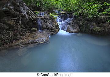 megkövez, természetes, nemzeti park, alkalmaz, arawan, víz,...