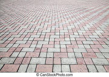 megkövez, utca, útburkolat, út, struktúra