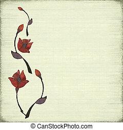 megkövez, virág, tervezés, háttér