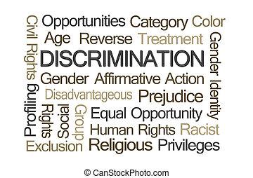 megkülönböztetés, szó, felhő