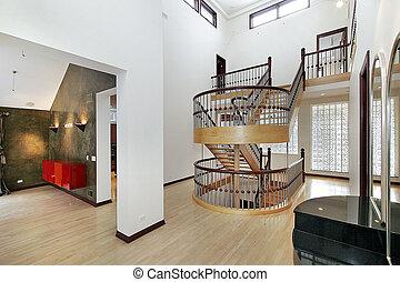 megkettőz, előcsarnok, lépcsőház