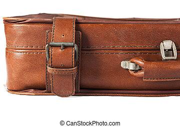 megkorbácsol, closeup, bőrönd