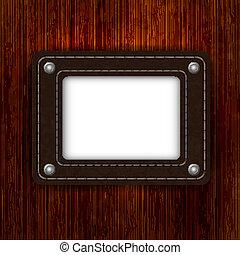 megkorbácsol, elem, képben látható, wooden élelmezés, noha, állás, helyett, -e, text., vektor, ábra