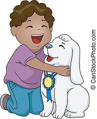 meglio, cane, premio