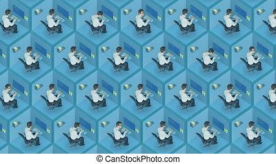 meglio, lavoratore, testa, recruiter, risorse umane, hr, lavoro cerca, concetto, con, testo, place., vuoto, disegno, esagonale, place., meglio, ricerca lavoro, meglio, impiegato, ricerca, meglio, hr, agency.