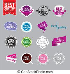 meglio, logos, vettore, qualità, collezione