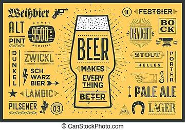 meglio, manifesto, birra, marche, tutto
