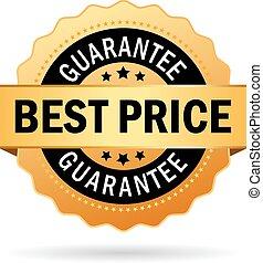 meglio, prezzo, garanzia, icona
