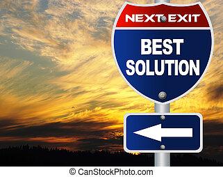 meglio, soluzione, segno strada