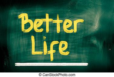 meglio, vita, concetto