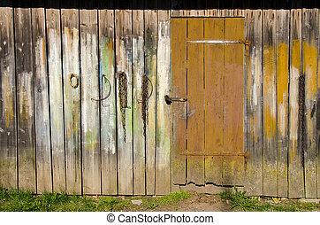 megművel épület, öreg, fal