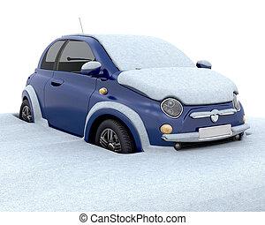 megragadt, hó