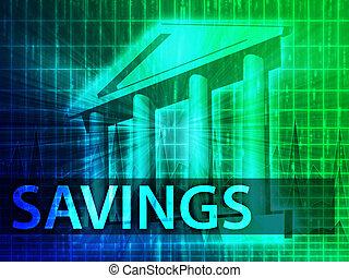 megtakarítás, ábra