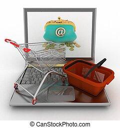megvásárol, ingóságok, fogyasztó, internet