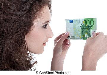 Megvizsgál,  100, nő, fiatal,  Euro