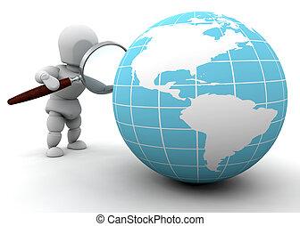 megvizsgál, világ