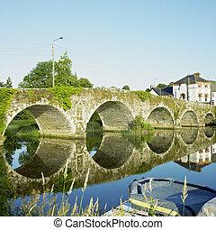 megye, kilkenny, bridzs, írország, graiguenamanagh