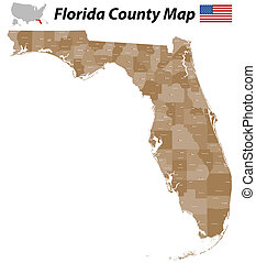megye, térkép, florida