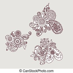 Mehndi design elements