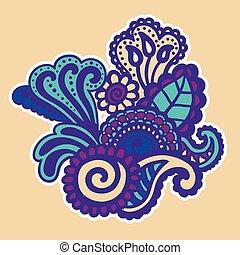 mehndi, design., patterns.