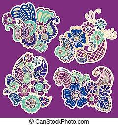 Mehndi design. Patterns.