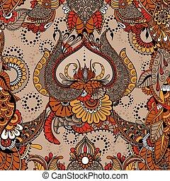 Mehndy flowers pattern lotus