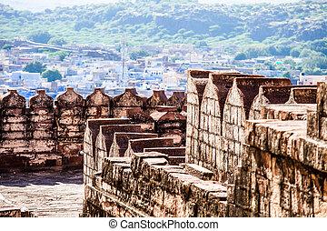 Mehrangarh,  jodhpur, インド,  rjasthan, 城砦