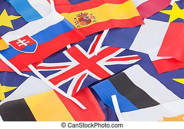 mehrere, land, flaggen