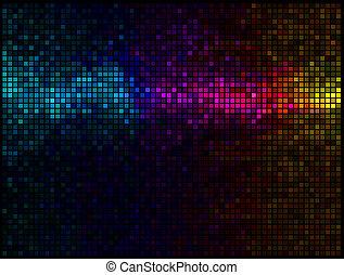 mehrfarbig, abstrakt, lichter, disko, hintergrund