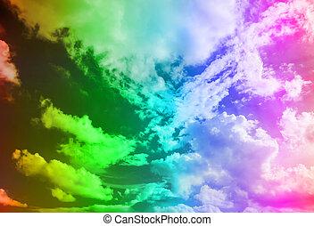 mehrfarbig, himmelsgewölbe, hintergrund