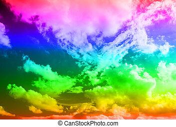 mehrfarbig, hintergrund, in, der, himmelsgewölbe
