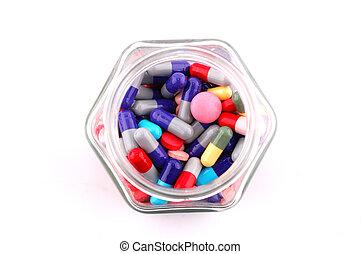 mehrfarbig, pillen