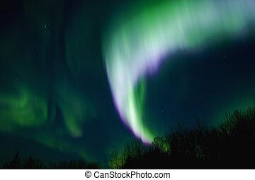 mehrfarbig, polarlicht