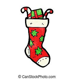 meias, caricatura, natal