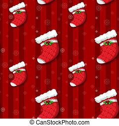 meias, desenho, seamless, natal