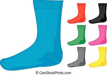meias, jogo, (socks, collection), em branco