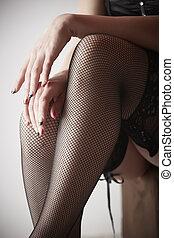 meias, mulher