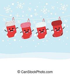 meias, natal, inverno