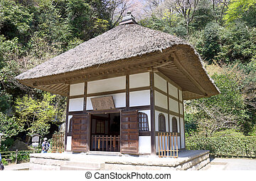 Meigetsu-in temple, Kamakura, Japan - Hall of Meigetsu-in ...