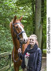 Meike und Piccadilly im Lager Busch - Portrait von Meike und...