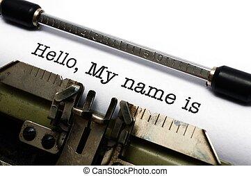 mein, hallo, name